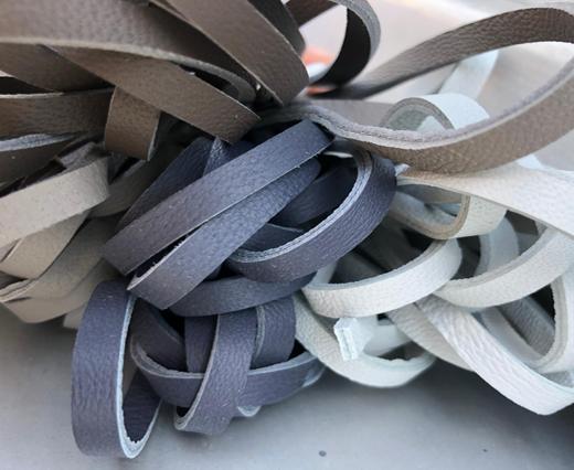 Buy Lederbänder Nappaleder Flach, zweilagig - 5mm  at wholesale prices