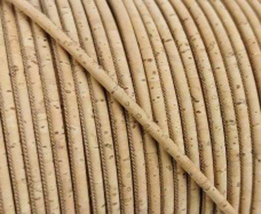Buy Cordons en Cuir Cordons en liège Ronds 2.5mm Round Stitched Cork Cord  at wholesale prices