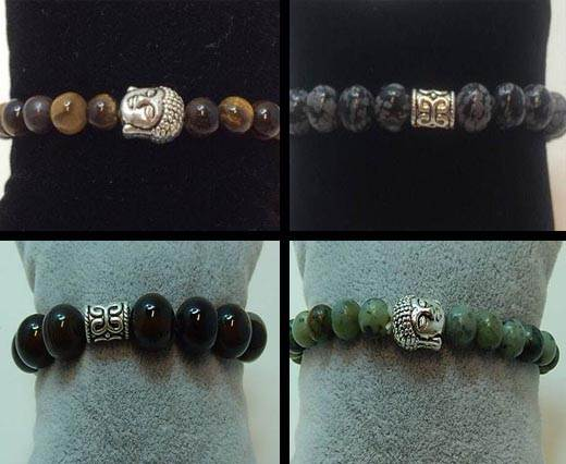Buy Halbedelsteine für Leder und Bänder Natural Stone Bracelets at wholesale prices