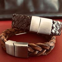 Buy Leather Cord Ready Leather Bracelets Impression of Leather and locks  at wholesale prices