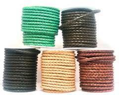 Buy Lederbänder Geflochtenes Leder Rund 6mm Plain Stil  at wholesale prices