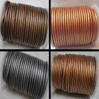 Buy Leather Cord Round Leather Cord 4mm Metallic  at wholesale prices