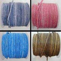 Buy Leather Cord Round Leather Cord 4mm Vintage  at wholesale prices