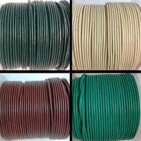 Rundes Leder - 2mm - Reguläre Farben