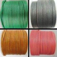 Round Leather Cords- 3mm - Metallic Shades