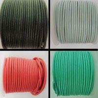 Round Leather Cords- 3mm - Plain Colours