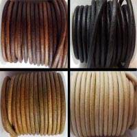 Full Round Leather Cords - 6 mm