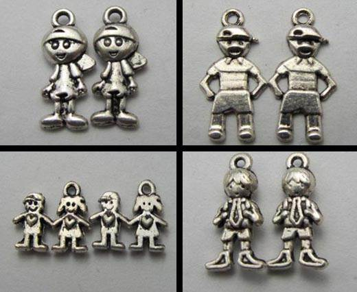 Buy Zamak / Brass Zamak Silver Plated Beads and Charms  Kids  at wholesale prices