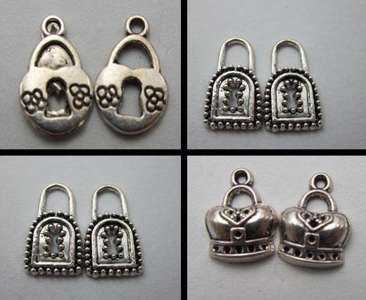 Buy Zamak / Brass Zamak Silver Plated Beads and Charms  Locks  at wholesale prices