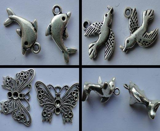 Buy Zamak / Brass Zamak Silver Plated Beads and Charms  Animals  at wholesale prices