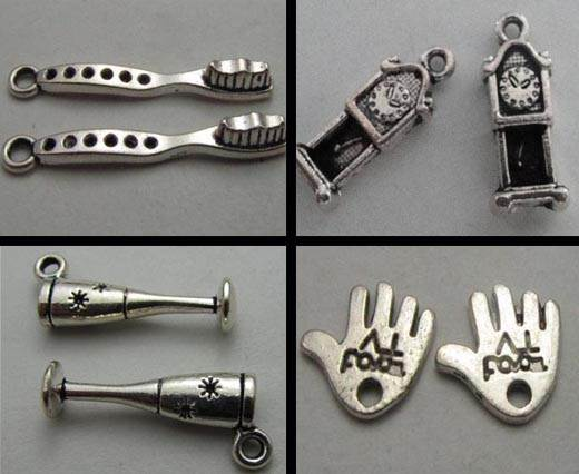 Buy Zamak / Brass Zamak Silver Plated Beads and Charms  Charms- Others  at wholesale prices