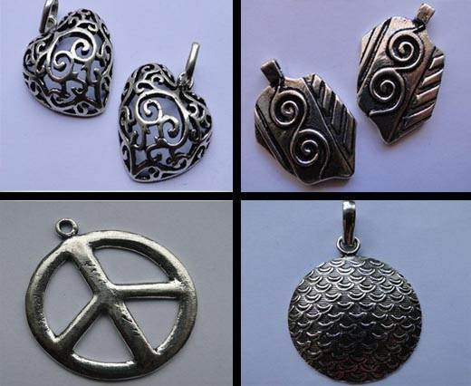 Buy Beads Silver Plated Metal Beads  Silver Plated Pendants  at wholesale prices