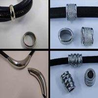 Buy Acciaio inossidabile Elementi in acciaio inossidabile Stainless Steel Parts for Leather - Steel Colour Parti in acciaio inox per cordini tubolari - misura 10mm  at wholesale prices