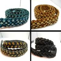 Buy Leather Cord Braided Flat Thick Leather  at wholesale prices