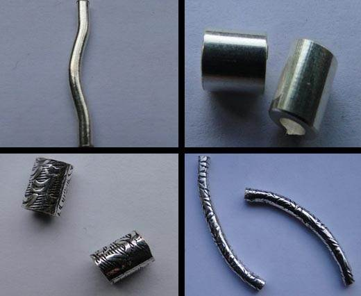 Buy Beads Silver Plated Metal Beads  Tubes  at wholesale prices