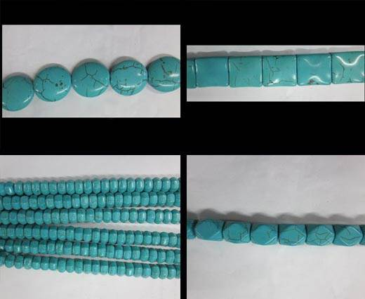 Buy Semi Precious Stones & 925 Sterling Silver Natural Stones Turquoise  at wholesale prices
