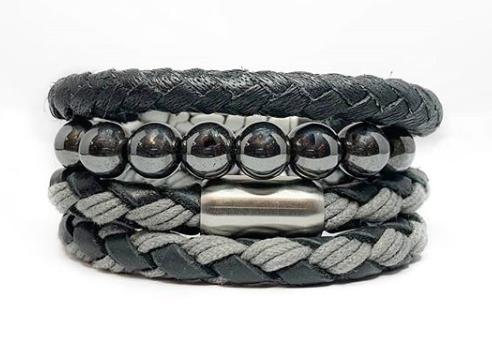 How do you make a leather cord bracelet