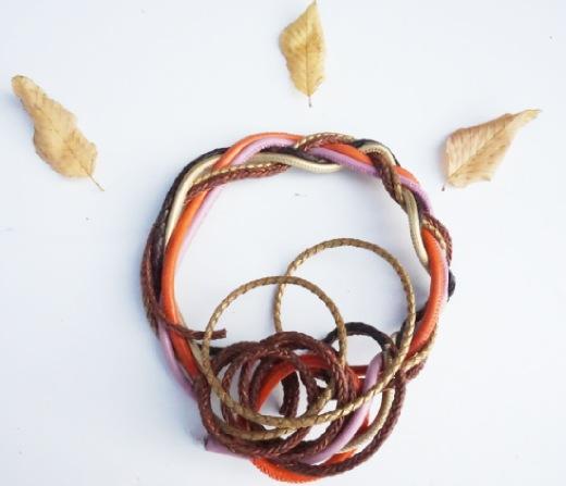 Les cordons de cuir pour la confection de bracelets