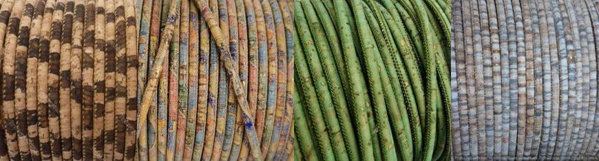 Buy Cordons en Cuir Cordons en liège Ronds 5mm Round Stitched Cork Cords  at wholesale prices
