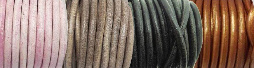 Buy Leather Cord Round Leather 5mm  at wholesale prices