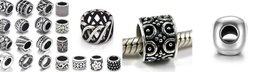 Buy Beads Slider beads Big Hole Beads   at wholesale prices