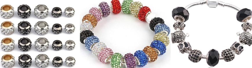 Buy Beads Crystal Beads Crystal - Spacers  at wholesale prices