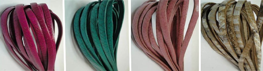 Buy Leather Cord Flat Leather Cord Italian Leather Cord  5mm Snake Style   at wholesale prices