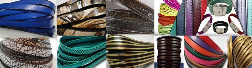 Buy Lederbänder Flache Lederbänder Italienisches Leder  at wholesale prices