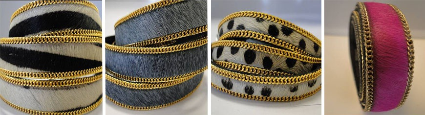 Buy Leather Cord Leather Cords Hair-On Leather Chains in Gold  at wholesale prices