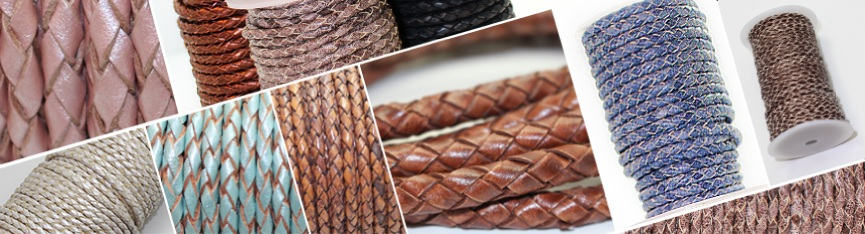 Buy Leather Cord Braided Leather Cord  at wholesale prices
