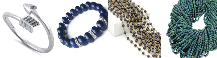 Buy Piedras Semipreciosas 2mm Gemstone necklace and bracelet finished 2mm Gemstone Necklaces  at wholesale prices