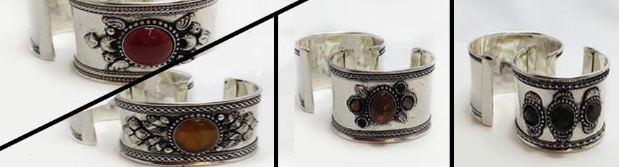 Buy Zamak / Brass Beads and Findings Metal Cuffs in Zamak / Brass Stone Brass Cuff  at wholesale prices