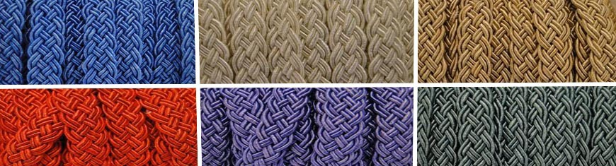 Buy Bead String material and Faux Cords Waxed Cotton Cord Flat Braided   at wholesale prices