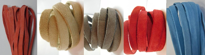 Buy Leather Cord Leather Cords Real Suede  Flat Suede Leather  at wholesale prices