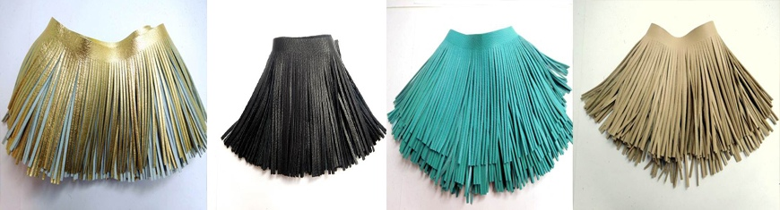 Real Leather Fringes