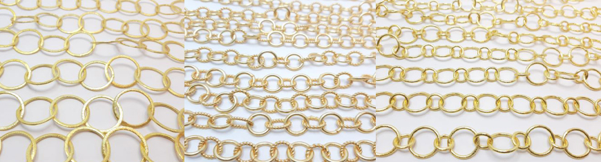 Buy Beads Brush Chains -Gold Plated  at wholesale prices