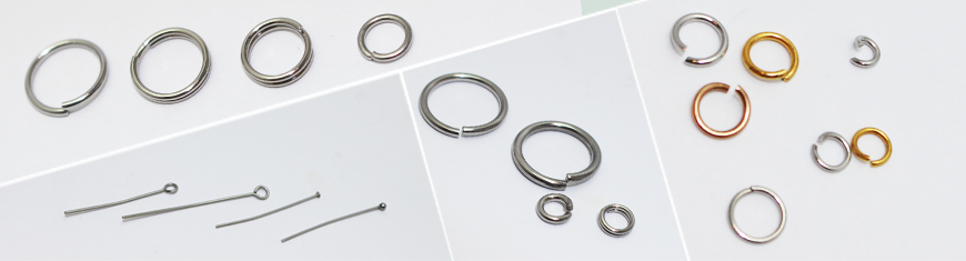 Buy Stainless Steel Jump Rings, Split Rings and Headpins   at wholesale prices