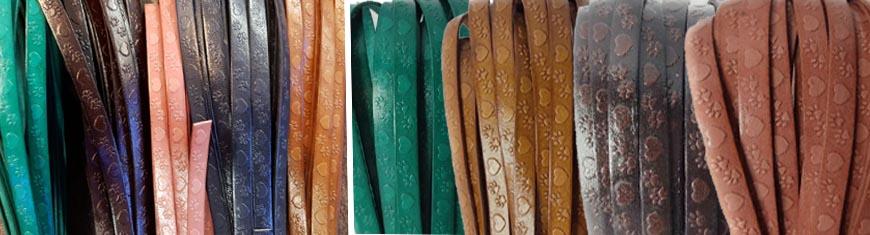 Buy Lederbänder Schriftzug auf Leder Herz und Pfote Design  at wholesale prices