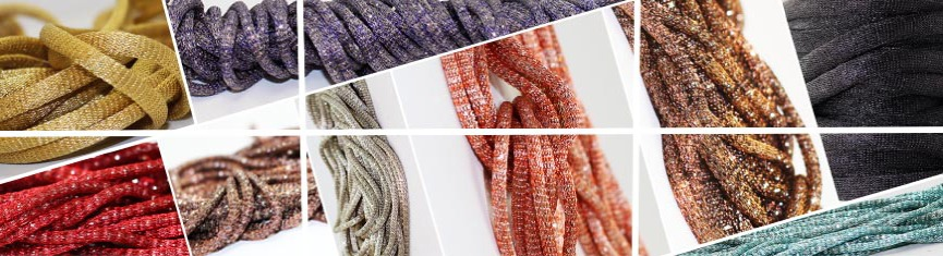 Buy Bead String material and Faux Cords Mesh Cords  Hollow Knit Chain - 3mm  at wholesale prices