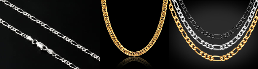 Buy Chains Stainless Steel Chains Gold Necklace Chain  at wholesale prices