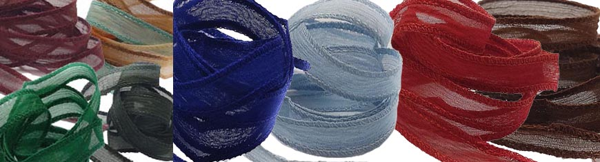 Buy Silk Cords and Ribbons Silk Wrap Bracelet - 10mm | Handmade  at wholesale prices