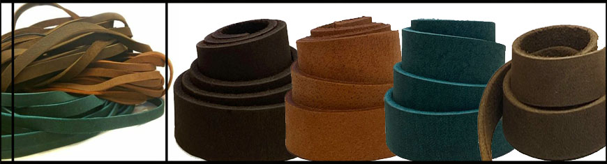 Buy Leather Cord Flat Leather Greased Leather Band  at wholesale prices