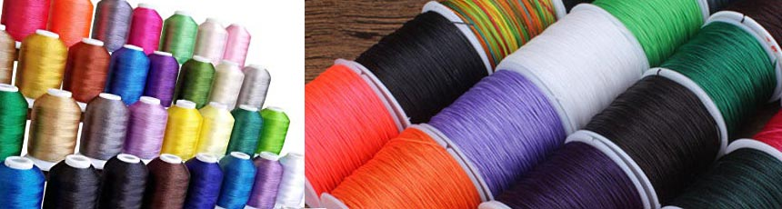 Buy Cordons en Cuir Leather Threads Waxed Nylon Thread 0.8mm  at wholesale prices