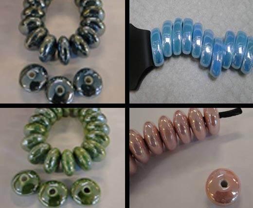 Round and Flat Ceramic Beads