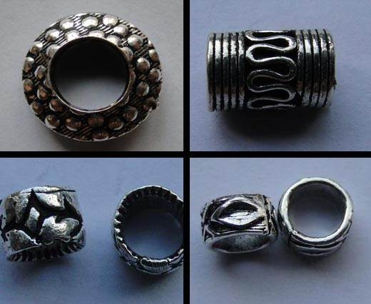 Silver Plated Beads with Larger Holes