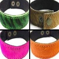 Hair-On Leather Bracelets