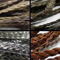 Real Nappa Leather - Flat Braided Cords