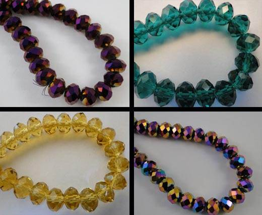 Crystal round faceted - 3mm