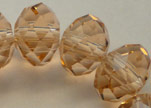 Perles rondes en cristal à facettes - 18 mm