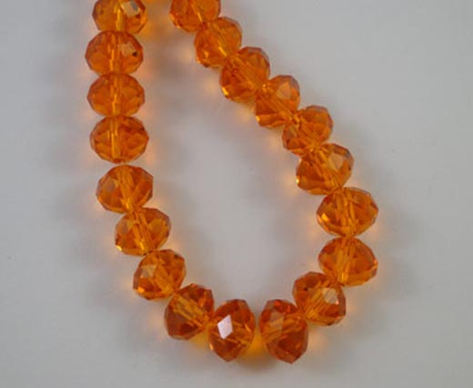 Crystal round faceted - 4mm